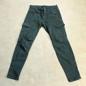 J Brand Military Skinny Side Zipper Cargo Pants 28